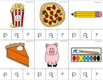 Letters P-R Beginning Sounds Clip It {A Beginning Work Task)