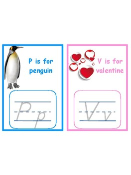 Letters P & V tracing cards for Jan/Feb Language shelves--Montessori Valentines