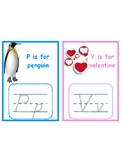 Letters P & V tracing cards for Jan/Feb Language shelves--