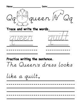 Letters P thru R Beginning Letter Sound Worksheets