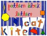 Letters Pattern Blocks
