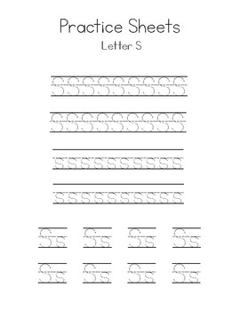Letters Q-T Writing Practice Worksheets