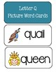 Letters Q, U, And V ~ Picture Word Cards