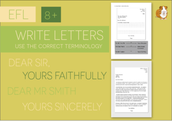 Letters: Read & Write Your Own Version (EFL Work Pack) 8+