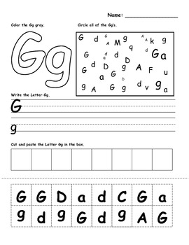 Letters Review Worksheets- 26 worksheets total!