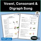 Letters and Sounds Practice with Music! | Vowel, Consonant & Digraph Song