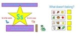 Letters S & P intro SmartBoard activities