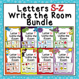 Letters S - Z Words Write the Room Bundle