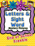 Reading: Letters & Sight Word Mystery Picture FREE