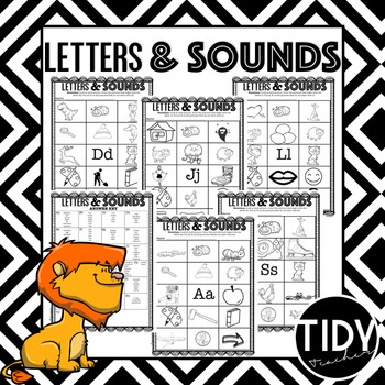 Letters & Sounds A-Z Printable sheets for Kindergarteners!