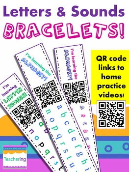 Sounds & Letters Homework BUNDLE {Bracelets with QR Codes}