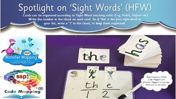 Letters & Sounds - First 100 HFW Words - Code Mapped® and Monster Mapped®
