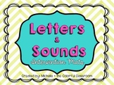 Letters + Sounds {Intervention Mats}