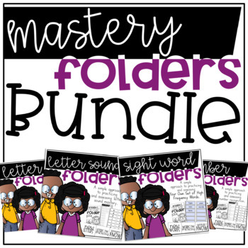 Letters, Sounds, Numbers, and EDITABLE Sight Word Folders Bundle