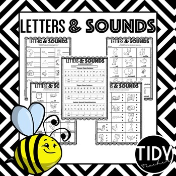 Beginning Letters & Sounds Printable Sheets for Kindergarteners!