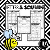 Beginning Letters & Sounds Printable Sheets for Kindergarteners!