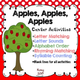 Letters & Sounds, Rhyming & Syllable Counting Center Activ