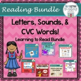Letters, Sounds, and CVC Words: A Learning to Read Bundle