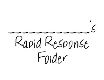 Letters, Sounds, and Dolch Word Rapid Response Boards