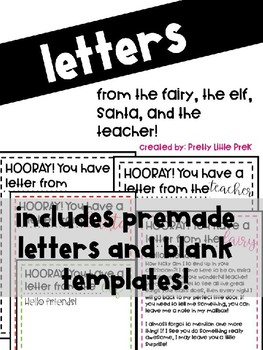 Letters Templates (from Fairy, Elf, Santa,Teacher)