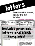 Letters Templates (from Fairy, Elf, Santa,Teacher)