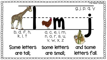 "Letters That Are ""Tall, Small, Fall"" Poster"