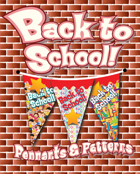 FREE! Back to School Pennants & Papers, 5 Styles, 2 Sizes