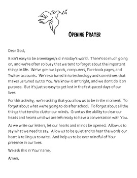 Letters To God   Writing Activity from the Heart | TpT