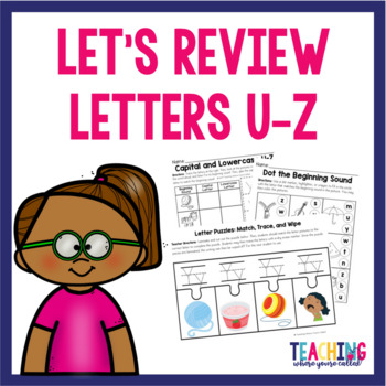 Letters U-Z Review Pack