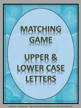 Letters - Upper and Lower Case_Matching/Memory Game