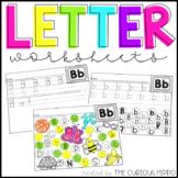 Letter worksheets for preschool