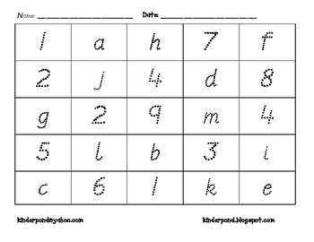 Letters VS Numbers