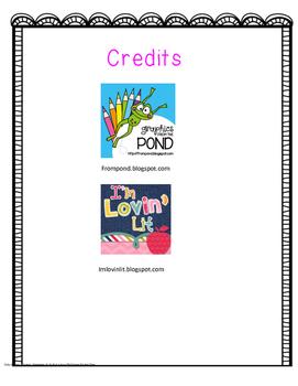 Letters VS. Words Concepts of Print Handout