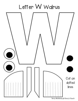 Letters W, Y and Z Cut and Paste Cut-Outs