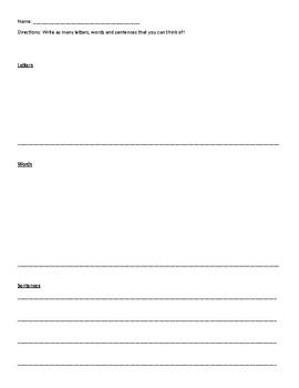 Letters, Words, Sentences