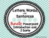 Letters, Words, and Sentences BUNDLE