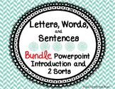 Letters, Words, and Sentences BUNDLE
