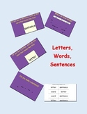 Letters, Words and Sentences: Learning the Difference