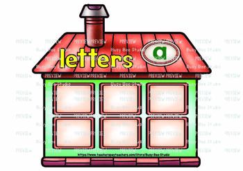 Letters, Words and Sentences Sort | Sorting Houses