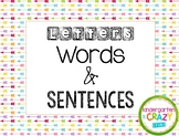 Letters, Words, and Sentences Sorting Cards