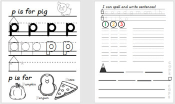 Letters, Words, and Sentences Workbook - Orton-Gilligham Phonics