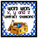 Letters X, Y, and Z Word Work Literacy Stations and Centers