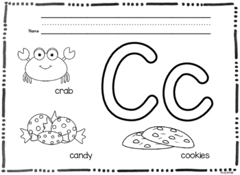Letters and Beginning Sounds Coloring Worksheets