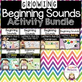 Letters and Beginning Sounds GROWING Activity Bundle