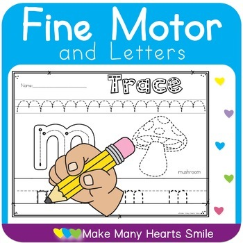 Letters and Fine Motor Skills Worksheets