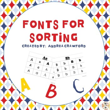 Letters and Fonts for Sorting