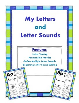 Letters and Letter Sounds, My Letters and Letters Sounds Book