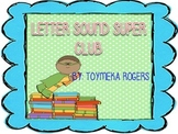 Letters and Letter Sounds Sticker Club