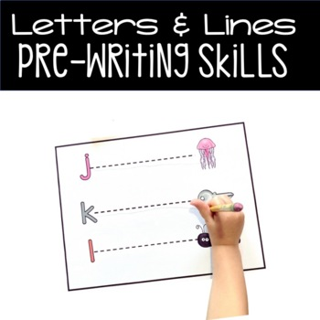 Letters and Lines - Line Tracing Task Cards