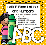 Alphabet and Numbers 0-20 Large Block Letters